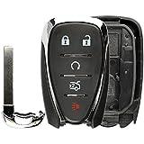 KeylessOption Keyless Entry Remote Smart Key Fob Case Shell Button Pad Cover for HYQ4EA Cruze Camaro Malibu