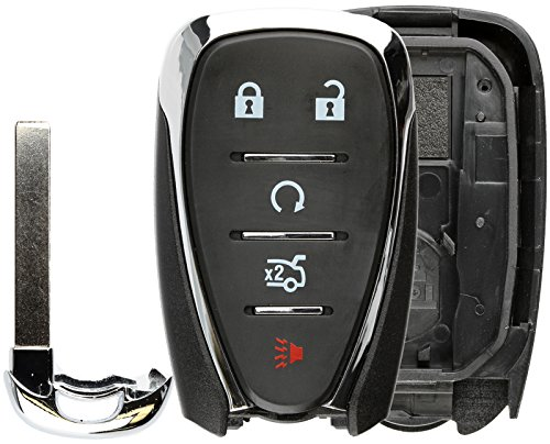 KeylessOption Keyless Entry Remote Smart Key Fob Case Shell Button Pad Cover for HYQ4EA Cruze Camaro Malibu