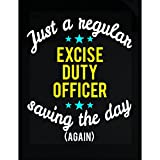 Excise Duty Officer Saving The Day - Sticker