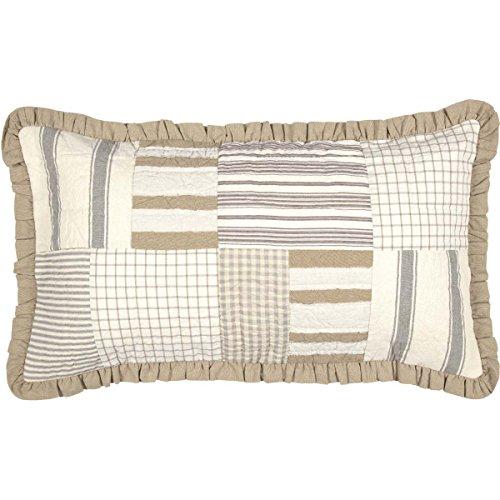 (VHC Brands Boho & Eclectic Farmhouse Bedding-Grace White Sham, King (40488))