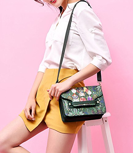 Bags Green Faux Leather Body Handle Handbags Women's Bags Shoulder Cross Top Bags wqxPn10Tn