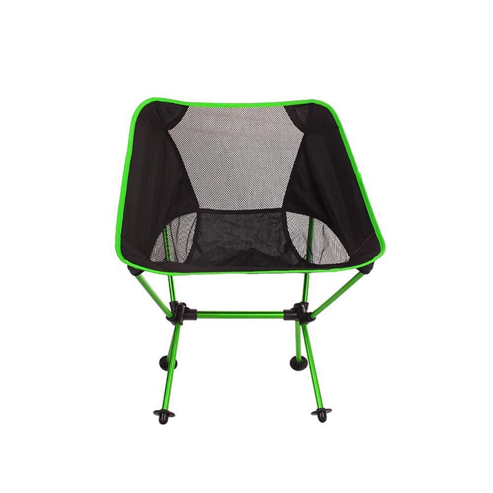 vert  WSBBQ Chaise de Camping portable ultralégère, chaises Pliantes compactes pour Le Sac à Dos Pliant, pour Pique-Nique en Plein air, Plage, randonnée, pêche avec Sac de Transport