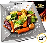 Vegetable Grill Basket - Grilling Basket for Vegetable Fish Meat and Shrimp - Suitable for All Grills BBQ & Smokers - Stainless Steel