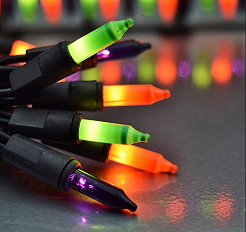 Rite Aid Halloween (ORANGE, PURPLE AND GREEN Garland Cluster Lights 150 COUNT 9' LONG Set of 2)