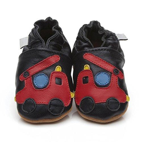 Funda de piel zapatos de bebé fuego motor 4–5años