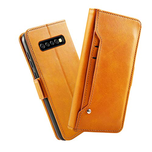 Samsung Galaxy S10 Plus Case, Premium PU Leather...