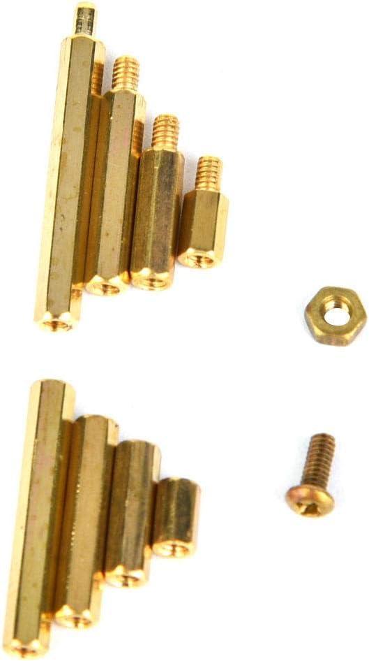 320 Pcs M2 Standoff Brass Hex Standoff Type Spacer Standoff Nut Screw Assortment Set Male Female