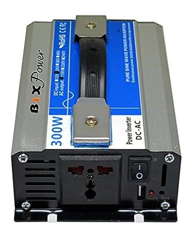 BiXPower 24V DC (20V ~ 30V) to 110V AC 300W True Pure Sine Wave Power Inverter - BiXPower DAS24300 - Quiet Electronic Low Voltage Dimmer