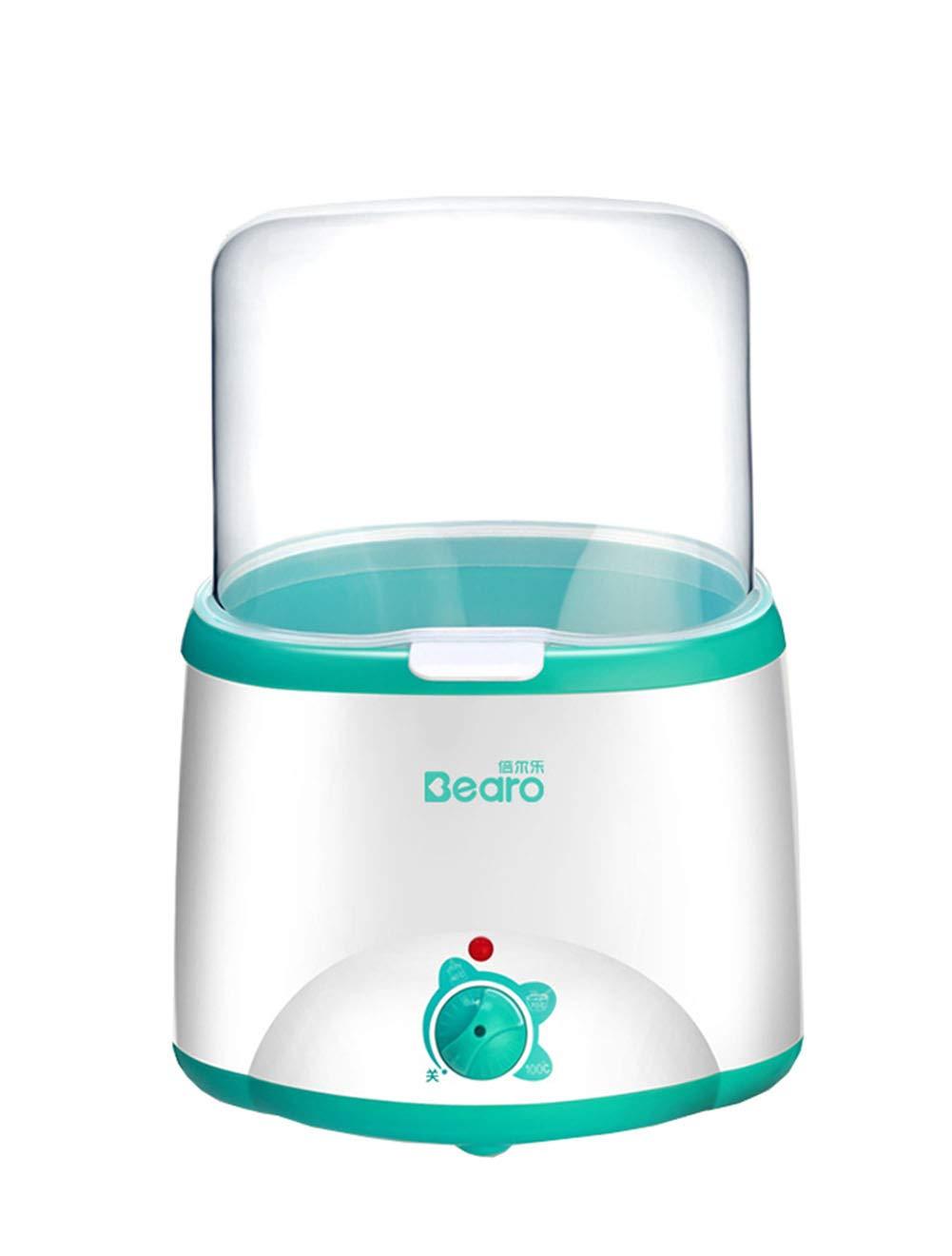 Sterilizer, Double Baby Bottle Warmer Multifunctional Milk Food Heater Steam Sterilizer BPA Free-cyan