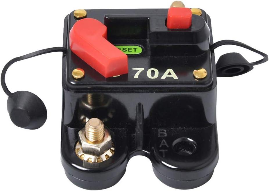70AMP Audio Circuit Breaker Fuse Holder Reset Switch for Car Boat 12V-24V