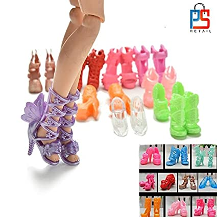 509129d0d761 Buy P S Retail Colourful Fashion Doll Shoes