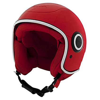 (VESPA) RED VJ1-946 Helmet - DOT Certified - XS