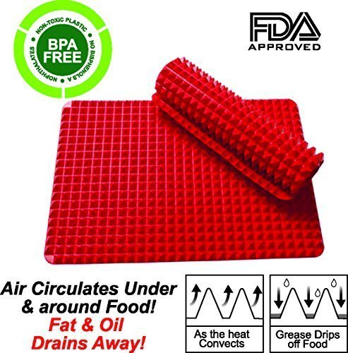 non-stick-heat-resistant-raised-pyramid-shaped-silicone-baking-roasting-mats-16-inches-x-115-inches-