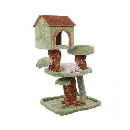 Siler Árbol de Gatos, Marco de Escalada de Gatos medianos con casa de Gatos y
