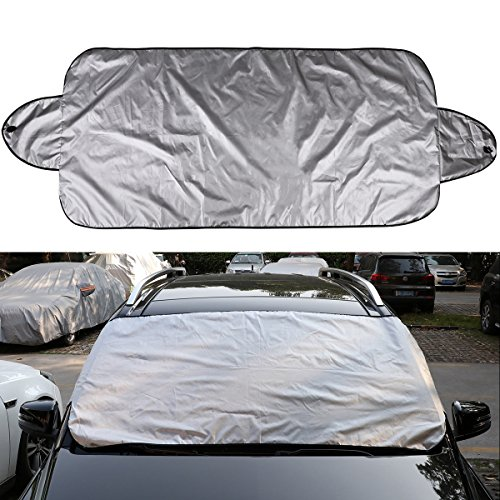 W AUERVO Car Windscreen Snow Cover Windshield Snow Ice Cover Frost Waterproof Windproof Dustproof Scratch Resistant Outdoor UV Protection Car Covers for SUV Most Vehicle H S size : 56 X 36