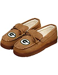 NFL Football Mens Team Logo Moccasin Slippers Shoe - Pick...
