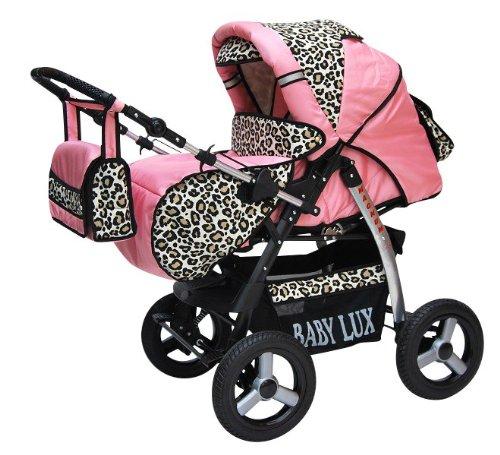 3 In 1 Pink Leopard Pram - 6