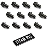 XSPC G1/4'' to 3/8'' Barb Fitting for Soft Tubing, Black Chrome, 12-pack