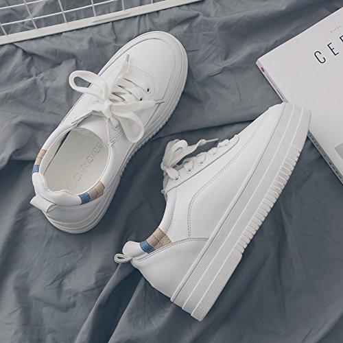 GAOLIM Otoño Zapatos Pizarra Zapatos Bizcocho Gruesos Zapatos Zapatos Blancos De Estudiantes Del Sexo Femenino. El Empalme blanco