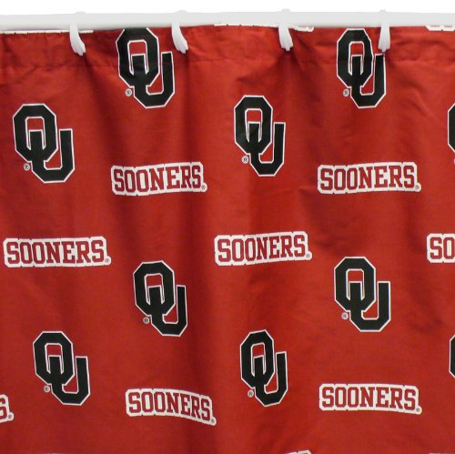 (Oklahoma Sooners Shower Curtain Cover Plus a Matching Window Curtain Valance - Save Big By)
