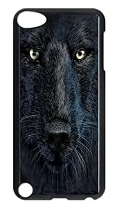 Specialdiy iPod Touch 5 case cover, Black Wolf Face Rugged case cover Protector for iPod Touch 5 / iPod 5th Generation PC Hardshell case cover Black xXMdejFrGL1 Black