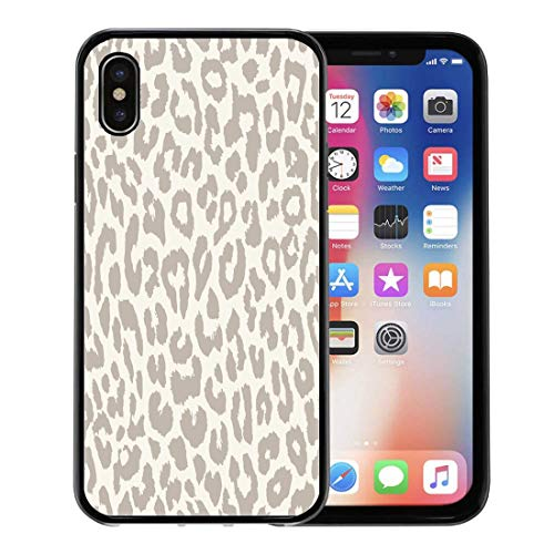 - Semtomn Phone Case for Apple iPhone Xs case,Brown Pattern Leopard Animal Cheetah Wild Fur Zoo for iPhone X Case,Rubber Border Protective Case,Black