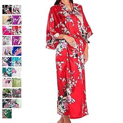 Chris&Je Women's Peacock&Blossoms Sleepshirt,Long
