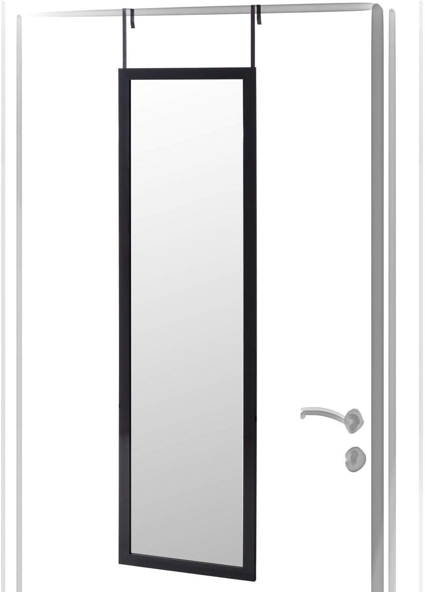 Espejo de Puerta Negro Moderno de plástico de 35 x 125 cm - LOLAhome: Amazon.es: Juguetes y juegos