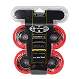 HYPER CONCRETE+G RED 80MM/84A (4 WHEELS per pack) - inline wheels for freeride, recreational and slalom