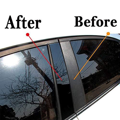 FidgetKute Black Mirror FACE Window Pillar Posts Trim 8 PCS for Nissan Qashqai 2016-2018