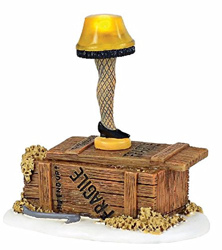 Department 56 Christmas Story Village Leg Lamp Lit Accessory Figurine, Multicolored by Department 56