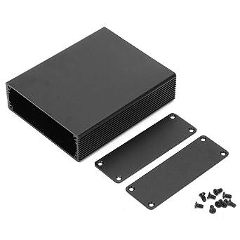 Nitrip Arena Negro Mate Aleación de aluminio negro Placa de circuito impreso Caja de instrumentos Caja Caso de proyecto electrónico: Amazon.es: Industria, empresas y ciencia