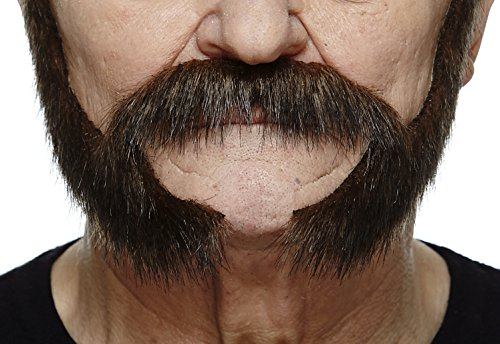 Facial Hair Halloween Costumes (Pedal to the metal brown fake beard, self adhesive)