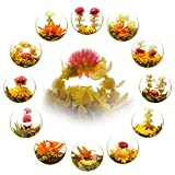 Teavivre 12pcs Handmade Blooming Flower Tea, Assorted Flowering Green Tea Ball