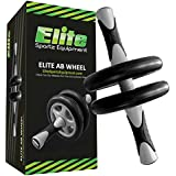 Elite Sportz Ab Wheel Roller - This Ab Exercise Wheel has Dual Wheels for Extra Stability, Comes Fully Assembled, is Sturdy, Smooth Rolling, and has Very Comfortable Non- Slip Handles