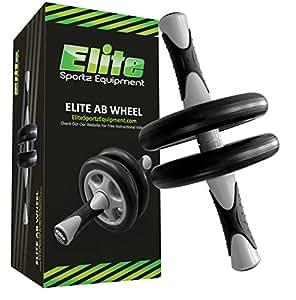 Ab Wheel – Ab Roller de Rueda Dual - Entrenamiento Fluido – Viene Ensamblada, Resistente y muy Durable.
