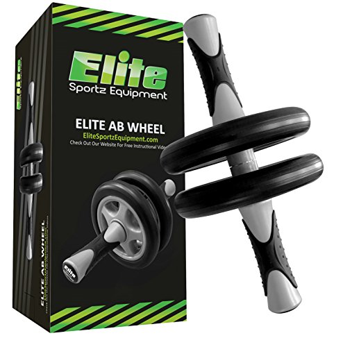 Elite Ab Wheel Roller - Dual Wheels - Smooth Workout, Isolates the Abs and Comes Fully - Sunny Exercise Wheel