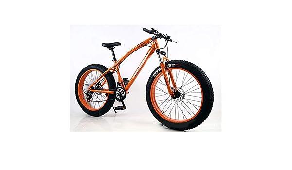 N A Las Bicicletas de montaña Bici de la Playa, 26 Pulgadas, 7 Velocidad de la Bicicleta, 4.0Fat Neumático del Rastro de montaña Moto de Nieve Bicicleta de Bicicletas Beach: Amazon.es: Deportes