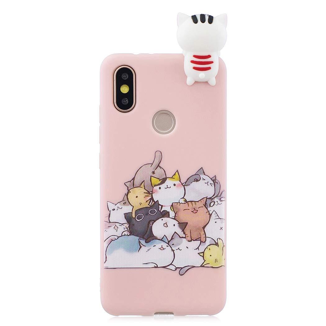 0b89038c004 CoqueCase Funda iPhone 6s Plus Silicona 3D Suave Flexible Ultrafina Goma  Carcasa iPhone 6 Plus Ultra Delgado Caso Color Cubierta Protector Bumper  Case Caja ...