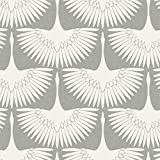 "Tempaper FE4023 Removable Peel and Stick Wallpaper, 20.5"" x 16.5', Feather Flock"