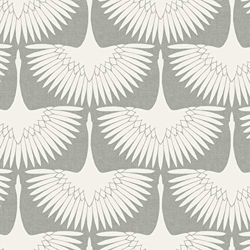 Tempaper FE4023 Feather Flock Removable Peel and Stick Wallpaper, 20.5