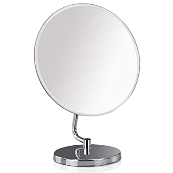 Amazon Com Round Hd Mirror For Makeup With Stand Vanity Mirror