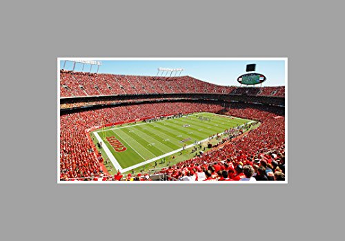 Arrowhead Stadium - Football - 36x20 Matte Poster Print Wall Art (Arrowhead Stadium)