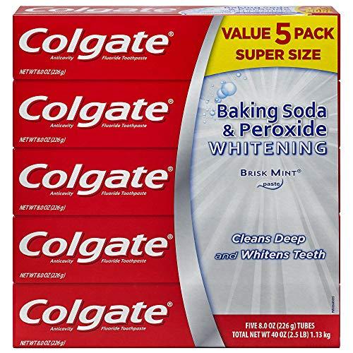 Colgate Baking Soda and Peroxide Whitening Toothpaste, 5 pk./8 oz.
