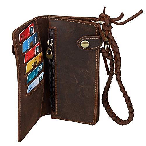 Hommes Cartes À En Fenêtre Cuir Porte cartes Homme De Crédit Portefeuille Véritable Yter Pour Fentes v8wap