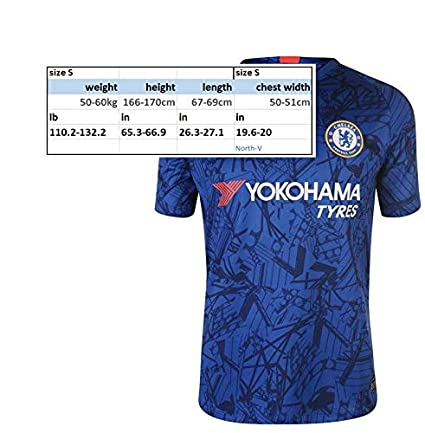 newest collection dc4a3 f4d0c Amazon.com : North-V Chelsea 2019-2020 Home Soccer Jersey ...