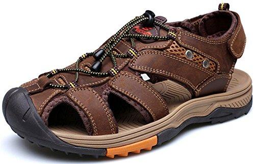 Mens Athletic Sandal Utomhus Sport Sandal Kaffe