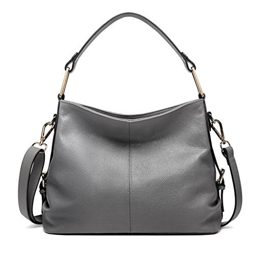 ZCJB Cross-Body Big Bag Lady Bags Cuero Hombro Messenger Bag Bolso ( Color : Negro ) Gris