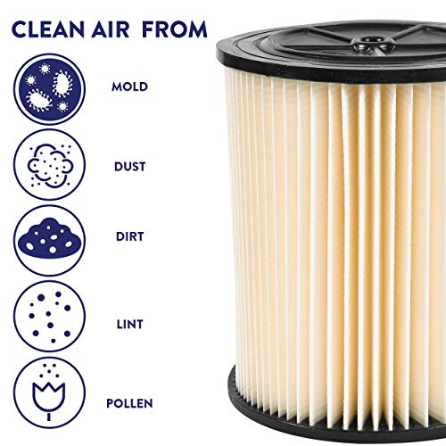 Wet and Dry Filter Cartridge – Fits Shop-Vac and Craftsman Brand Models of 5 Up and Diameter by