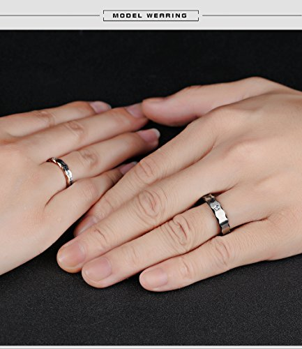Fate Love 2pcs Romantic ''I will always be with you'' Couples Promise Engagement Wedding Ring Set/ Ring Necklace A Pair for Lover by Fate Love Jewelry (Image #4)